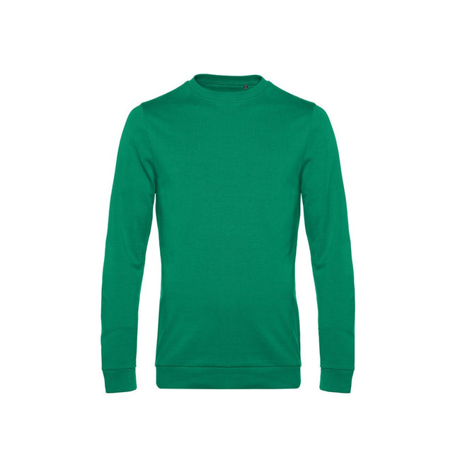 Kelly Green - Front - B&C Mens Set In Sweatshirt