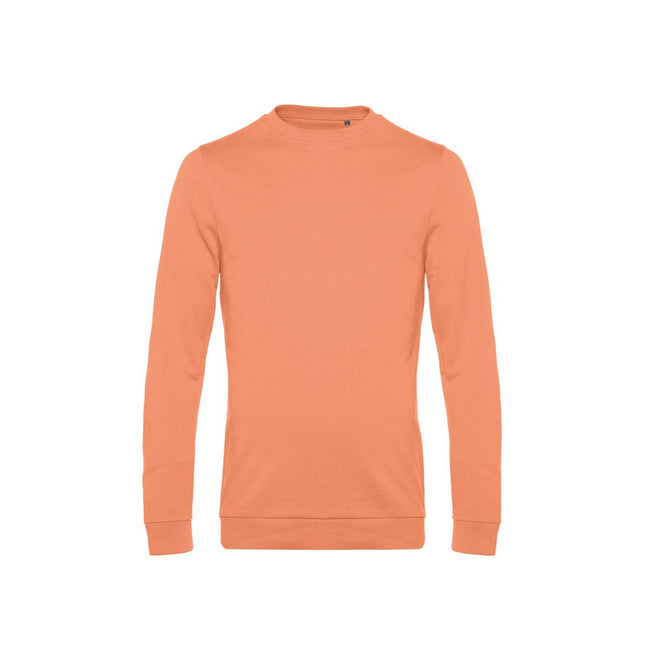 Melon Orange - Front - B&C Mens Set In Sweatshirt