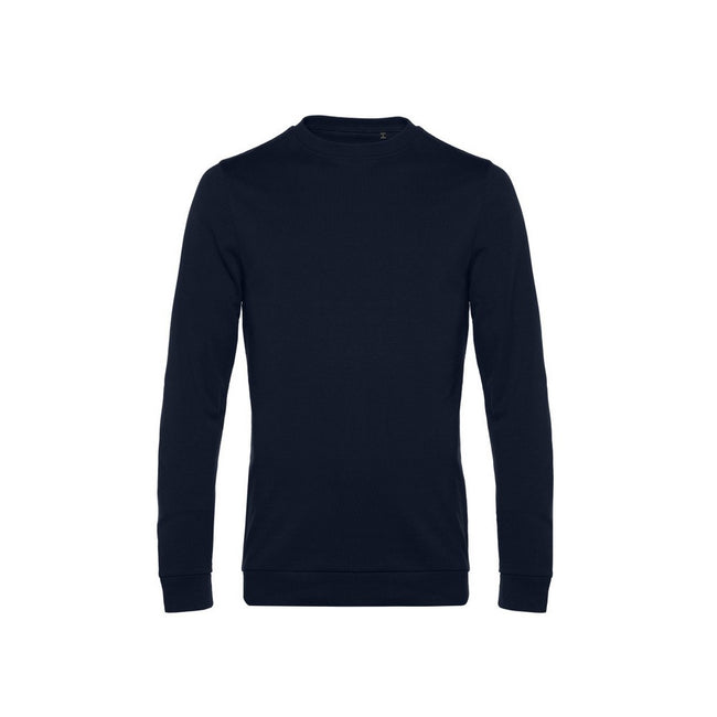 Navy Blue - Front - B&C Mens Set In Sweatshirt