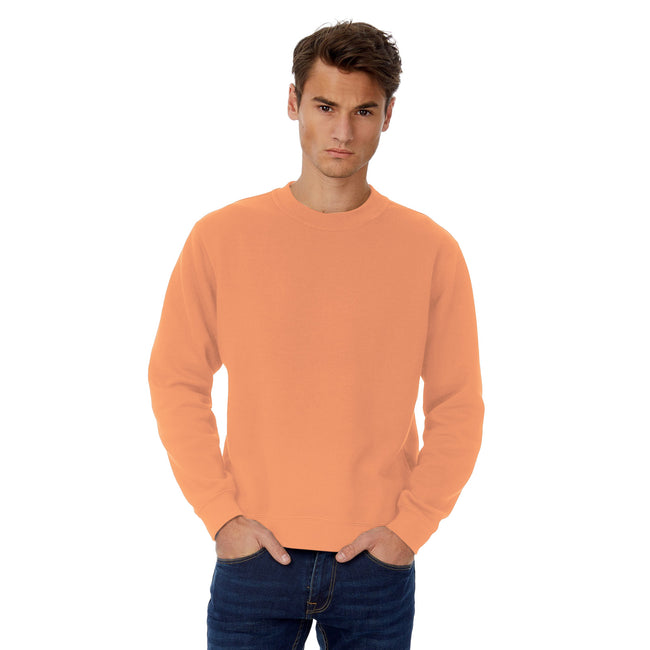 Nude - Front - B&C Mens Set In Sweatshirt