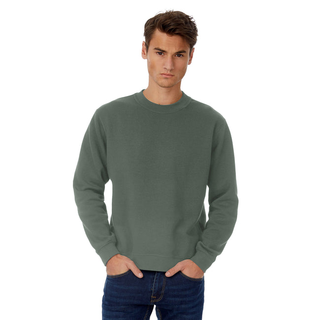 Pale Yellow - Front - B&C Mens Set In Sweatshirt