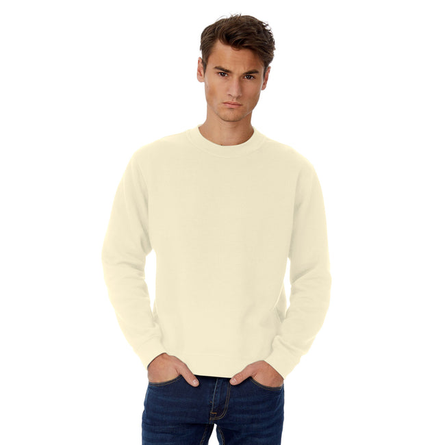 Solar Yellow - Front - B&C Mens Set In Sweatshirt