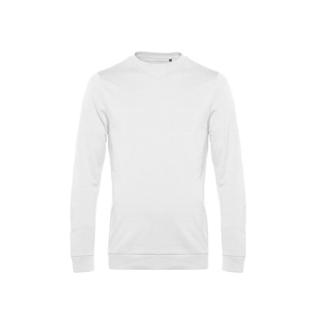 White - Front - B&C Mens Set In Sweatshirt