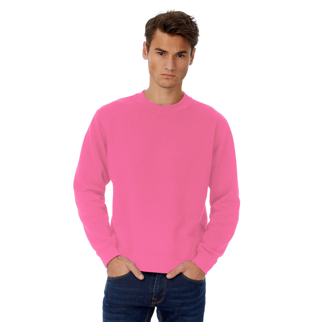 Heather Dark Graen - Front - B&C Mens Set In Sweatshirt