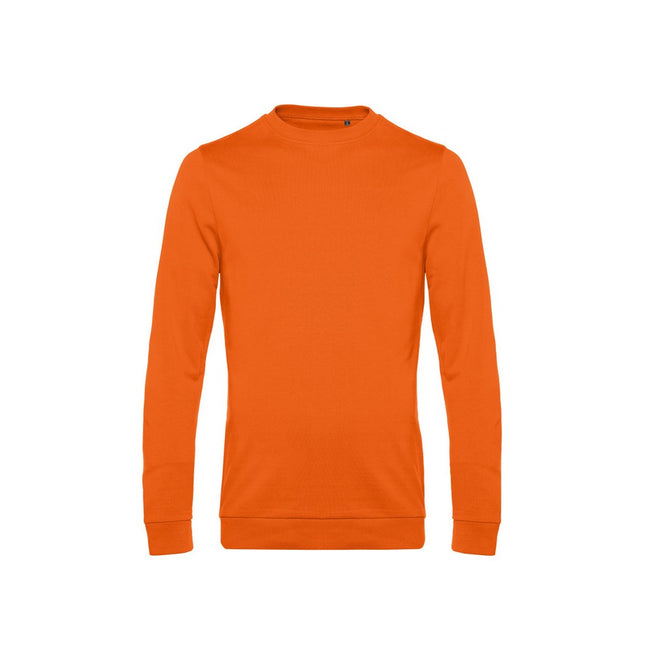 Heather Mid Gray - Front - B&C Mens Set In Sweatshirt