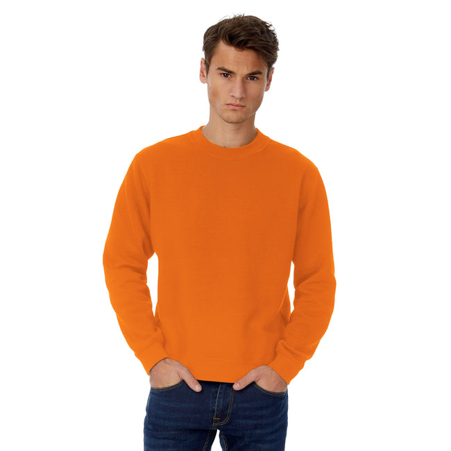 Heather Purple - Front - B&C Mens Set In Sweatshirt