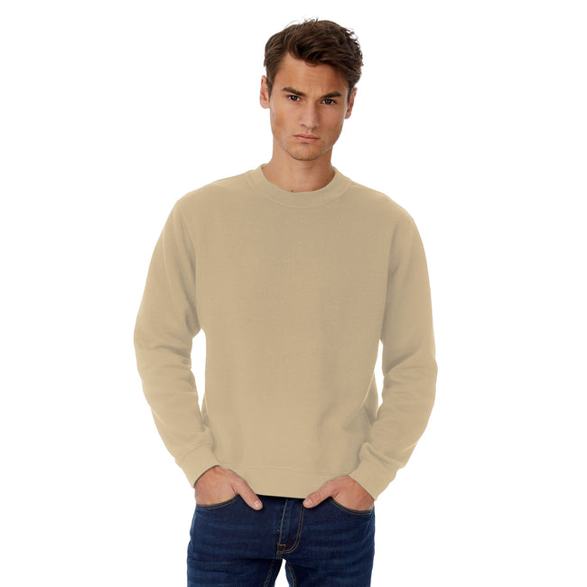Heather Asphalt - Front - B&C Mens Set In Sweatshirt