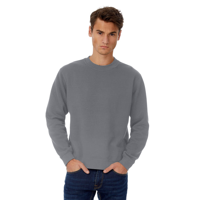 Heather Navy - Front - B&C Mens Set In Sweatshirt