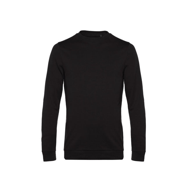 Black Pure - Front - B&C Mens Set In Sweatshirt
