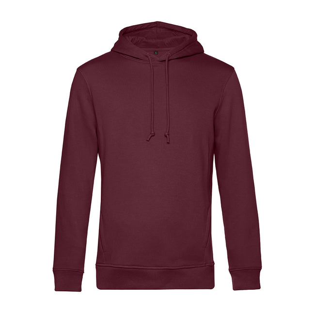 Apple Green - Front - B&C Mens Organic Hooded Sweater