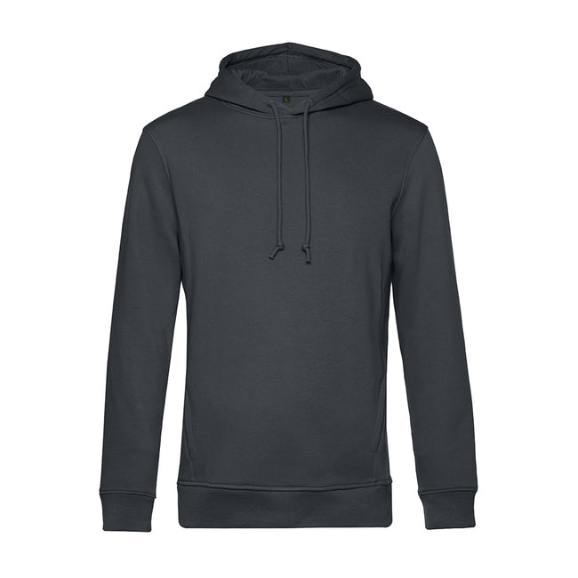 Magenta Pink - Front - B&C Mens Organic Hooded Sweater