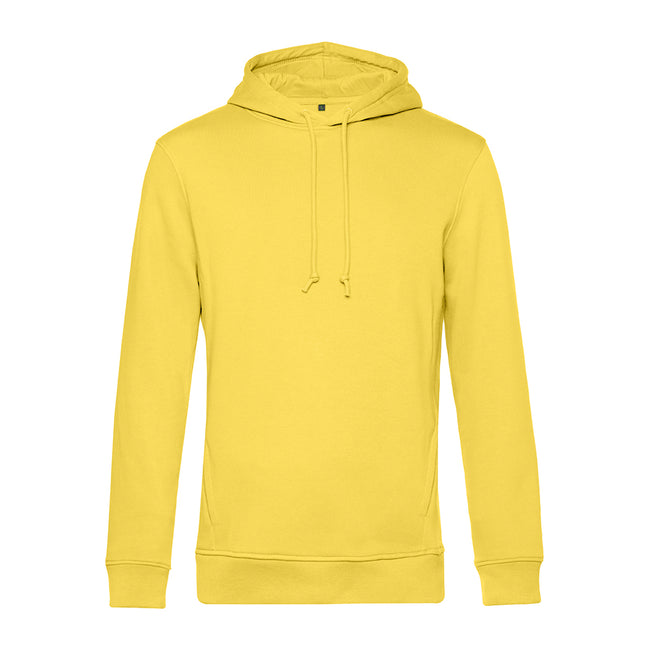 Navy Blue - Front - B&C Mens Organic Hooded Sweater