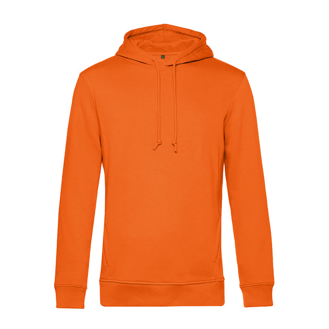 Radiant Purple - Front - B&C Mens Organic Hooded Sweater
