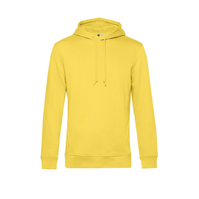 Yellow Fizz - Front - B&C Mens Organic Hooded Sweater