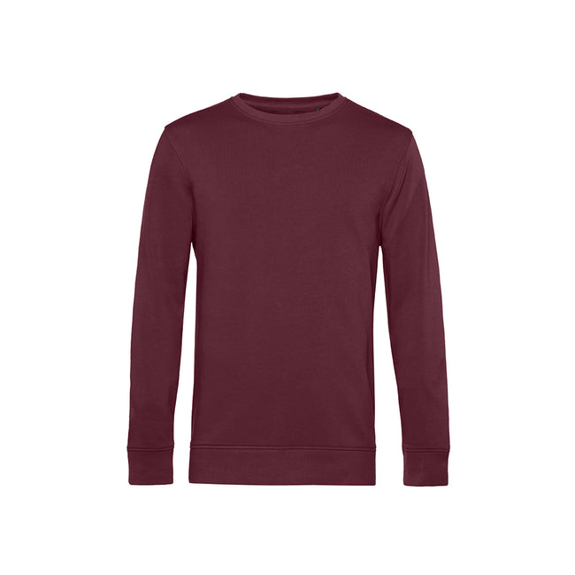 Navy Blue - Front - B&C Mens Organic Crew Neck Sweat