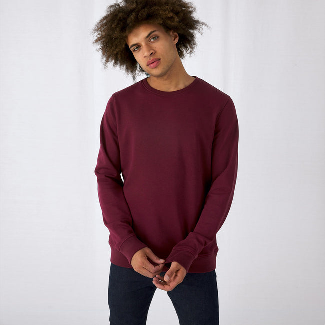 Off White - Front - B&C Mens Organic Crew Neck Sweat
