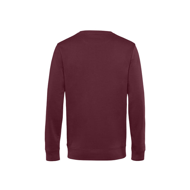 Pure Orange - Front - B&C Mens Organic Crew Neck Sweat