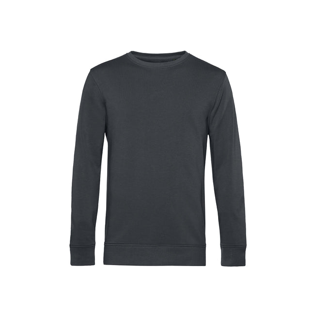 Soft Rose - Front - B&C Mens Organic Crew Neck Sweat