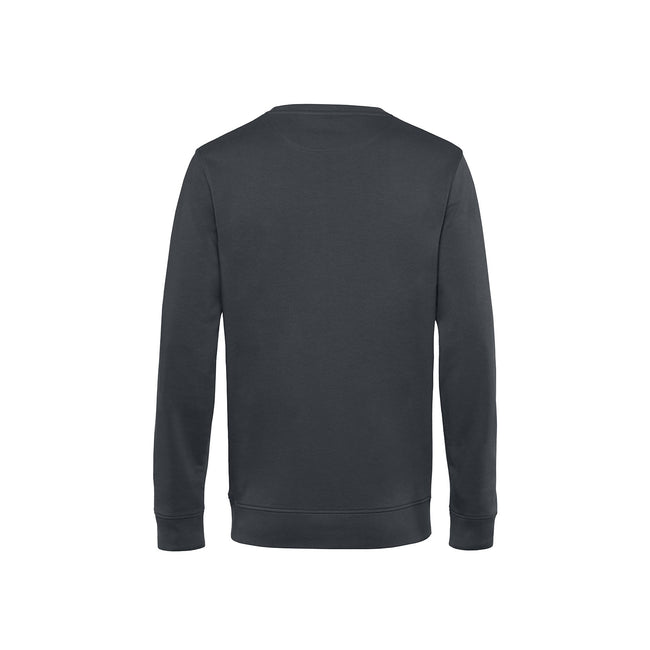Royal Blue - Front - B&C Mens Organic Crew Neck Sweat