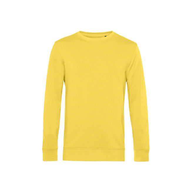 Sage - Front - B&C Mens Organic Crew Neck Sweat