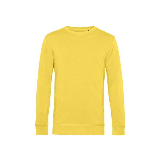 Yellow Fizz - Front - B&C Mens Organic Crew Neck Sweat