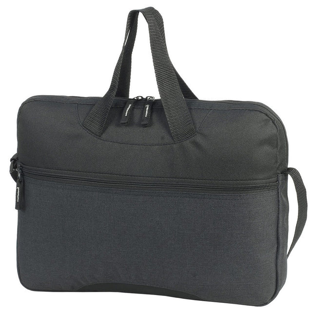 Charcoal Melange-Black - Front - Shugon Avignon Conference Bag