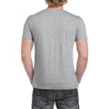 Sport Grey (RS) - Pack Shot - Gildan Mens Soft Style V-Neck Short Sleeve T-Shirt