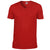 Red - Front - Gildan Mens Soft Style V-Neck Short Sleeve T-Shirt