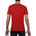 Red - Pack Shot - Gildan Mens Soft Style V-Neck Short Sleeve T-Shirt