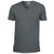Charcoal - Front - Gildan Mens Soft Style V-Neck Short Sleeve T-Shirt