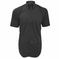 Mid Blue - Front - Kustom Kit Mens Short Sleeve Corporate Oxford Shirt