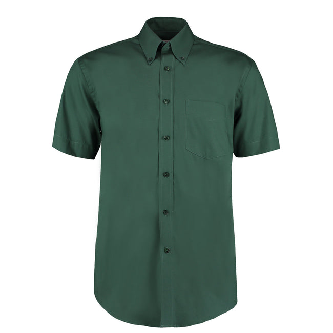 Light Blue - Front - Kustom Kit Mens Short Sleeve Corporate Oxford Shirt