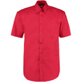 Red - Front - Kustom Kit Mens Short Sleeve Corporate Oxford Shirt