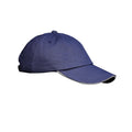 Navy-White - Front - Result Unisex Low Profile Heavy Brushed Cotton Baseball Cap With Sandwich Peak