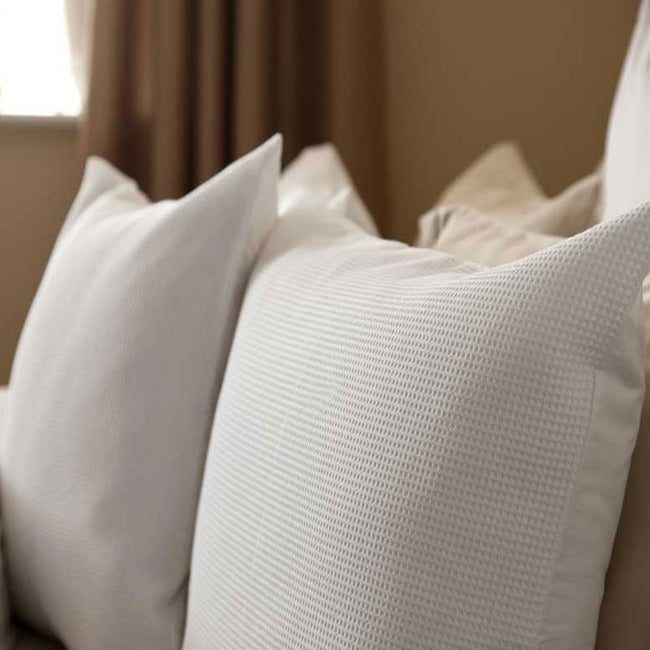 White - Front - Belledorm Waffle Weave Pillowcase