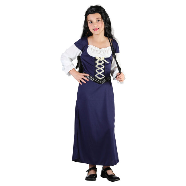 Dark Blue-White - Front - Bristol Novelty Childrens-Kids Forest Maid Costume