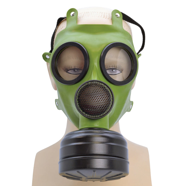 Green-Black - Front - Bristol Novelty Unisex Adults Realistic Gas Mask