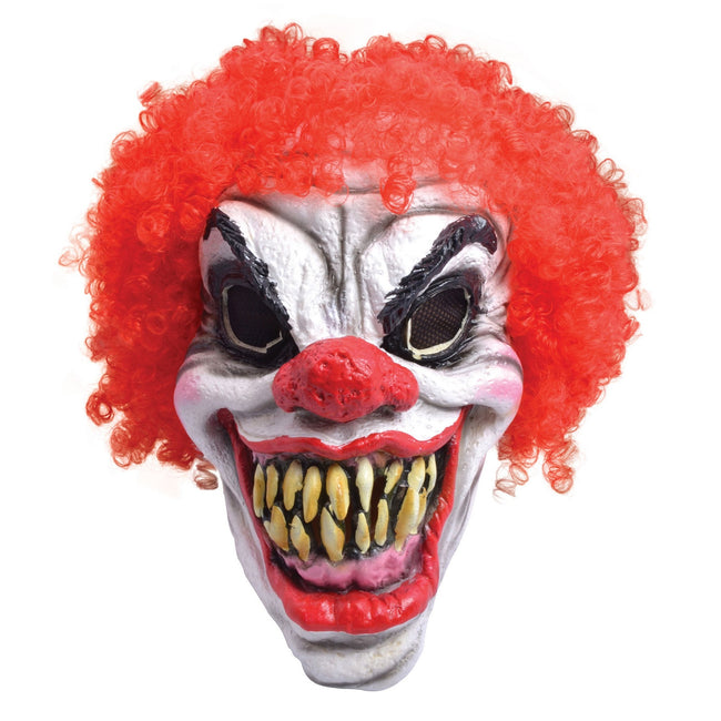 White-Red-Black - Front - Bristol Novelty Unisex Halloween Clown Mask