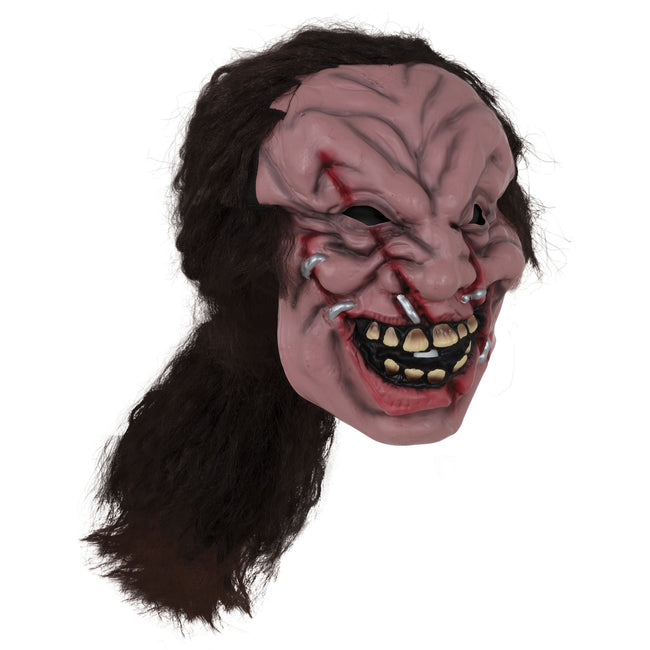 Multicolored - Front - Bristol Novelty Unisex Adults Zombie Mask With Hair