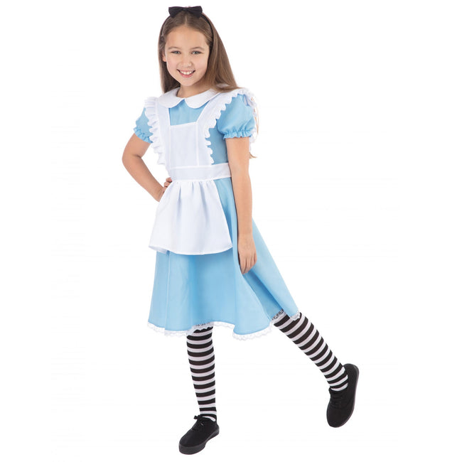 Blue-White-Black - Front - Bristol Novelty Girls Traditional Alice Costume