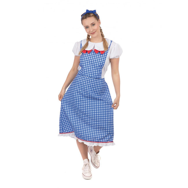 Blue-White-Red - Front - Bristol Novelty Womens-Ladies Kansas Lady Costume