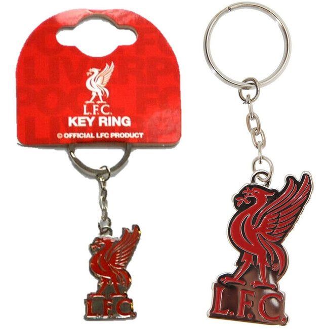 Silver-Red - Back - Liverpool FC Official Soccer Crest Keyring