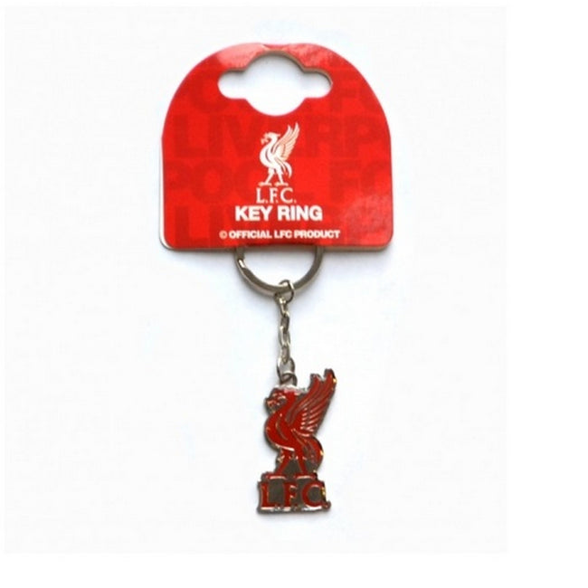 Silver-Red - Front - Liverpool FC Official Soccer Crest Keyring