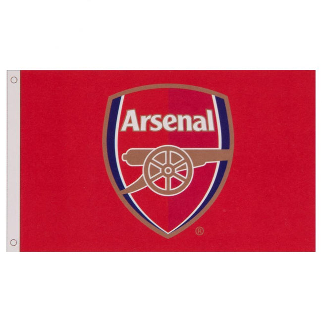 Red - Back - Arsenal FC Core Crest Flag