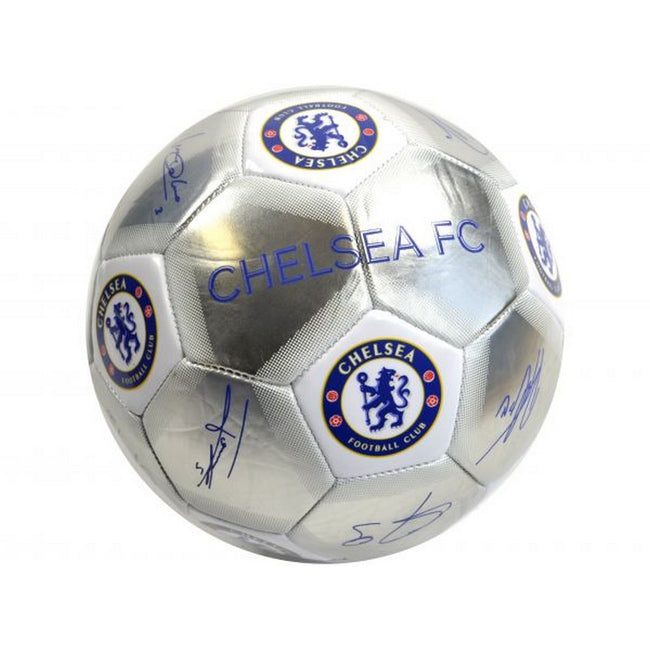 Silver-Blue - Front - Chelsea FC Special Edition Signature Football