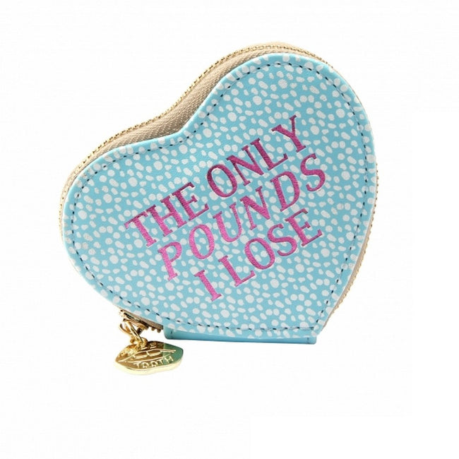 Blue - Front - Sweet Tooth Womens-Ladies The Only Pounds I Lose Heart Purse