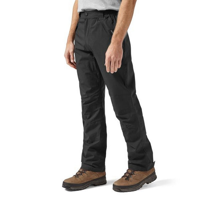 Black - Side - Craghoppers Outdoor Pro Mens Steall Stretch Trousers-Pants
