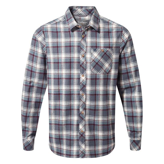 Ombre Blue Check - Front - Craghoppers Mens Harris Long Sleeve Shirt
