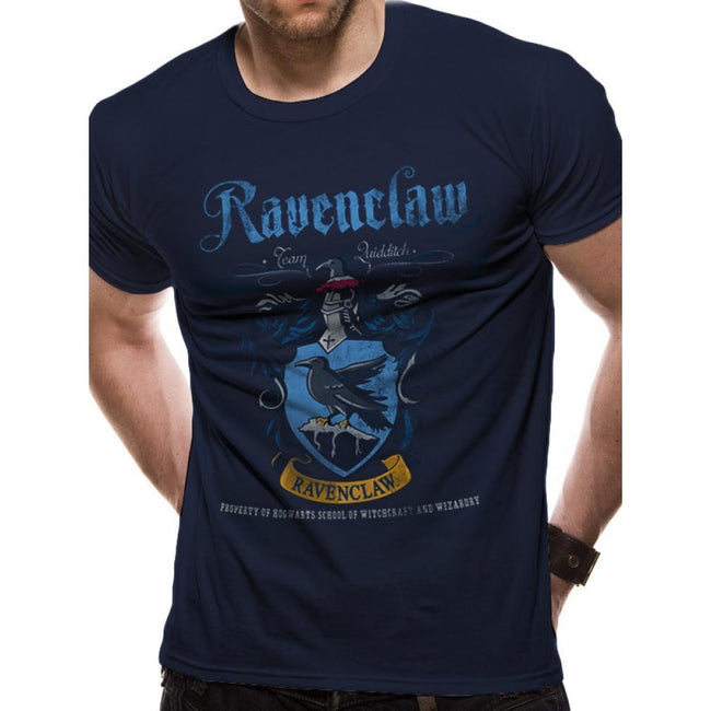 Blue - Front - Harry Potter Ravenclaw Quidditch Design T-shirt