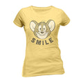 Yellow - Front - Tom And Jerry Adults Unisex Smile T-Shirt